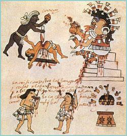 En la época prehispánica se acostumbraba realizar sacrificios de personas durante estas celebraciones.