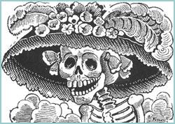 """Las """"calaveritas"""" son rimas o versos satiricos dedicados a los difuntos o personas vivas de forma humoristica."""